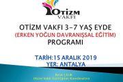 OTİZM VAKFI 3-7 yaş EYDE(Erken Yoğun Davranışsal Eğitim Programı)-ANTALYA